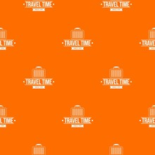 Travel Bags Pattern Vector Ora...
