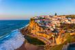 Leinwanddruck Bild - Azenhas do Mar, typical village on top of oceanic cliffs, Portugal