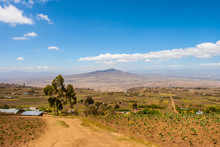 Kenya. Africa. Rift Valley Panorama. Views Of The Crater Longonot Through The Valley. Longonot National Park. African Rift. Landscapes Of Kenya. Travelling To Africa.