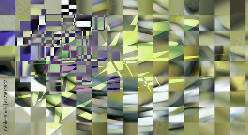 Checkered abstract design with elements of art