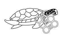 Brown Sea Turtle Icon Cartoon ...