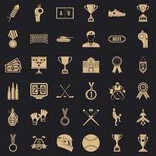Big Award Icons Set. Simple Se...