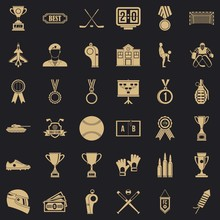Big Premium Icons Set. Simple Set Of 36 Big Premium Vector Icons For Web For Any Design