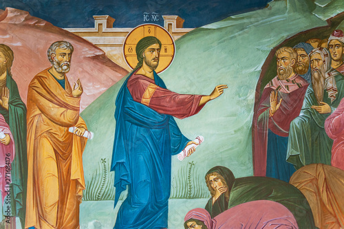 Mural painting of preaching...