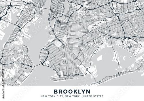 Tableau sur Toile Brooklyn map