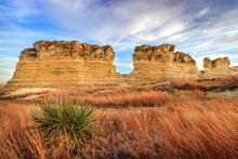 Castle Rock State Park, KS USA - Kansas Limestone Formations At Castle Rock State Park