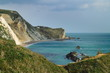 A view of the cliffs a long the coast of Dorset.