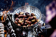 Roaster Of Fresh Chestnuts Roa...
