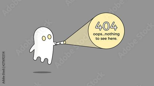 Illustration for 404 error Canvas Print