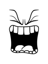 Wütend Brüllen Sauer Mund