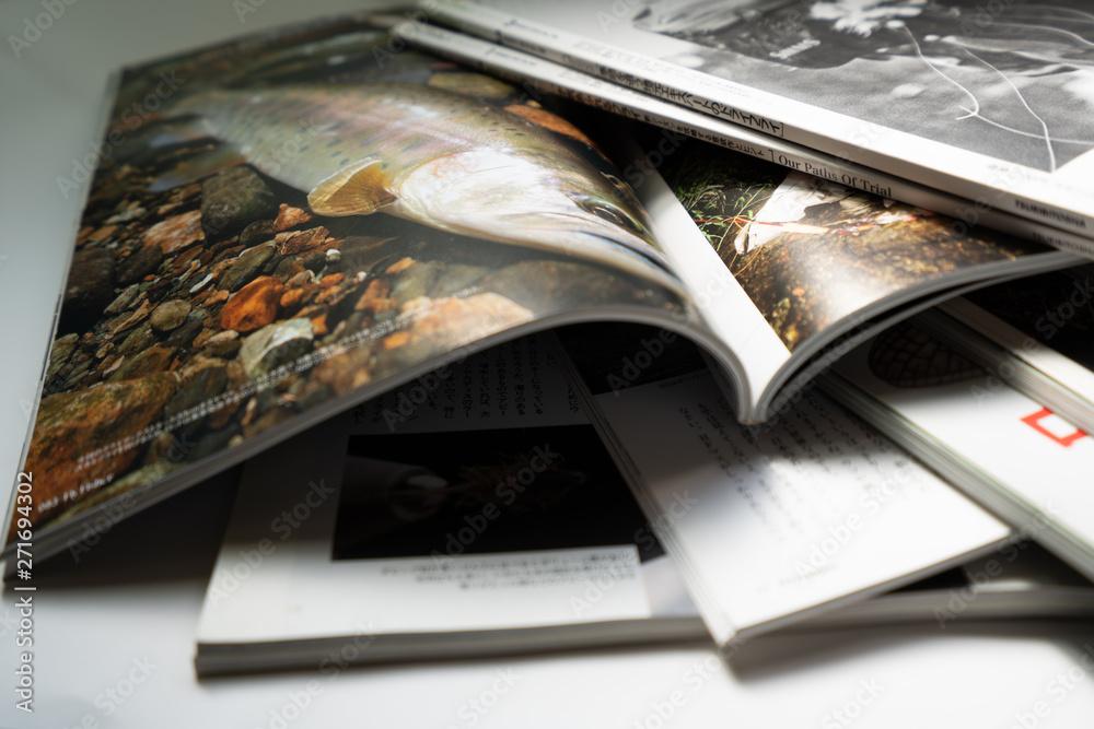 Fototapeta 雑誌の山