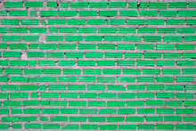 Green Brick Wall Background For Background