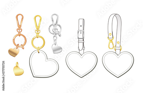 Blank heart shaped key chains set, heart shaped bag charms/ tags with detachable Wallpaper Mural
