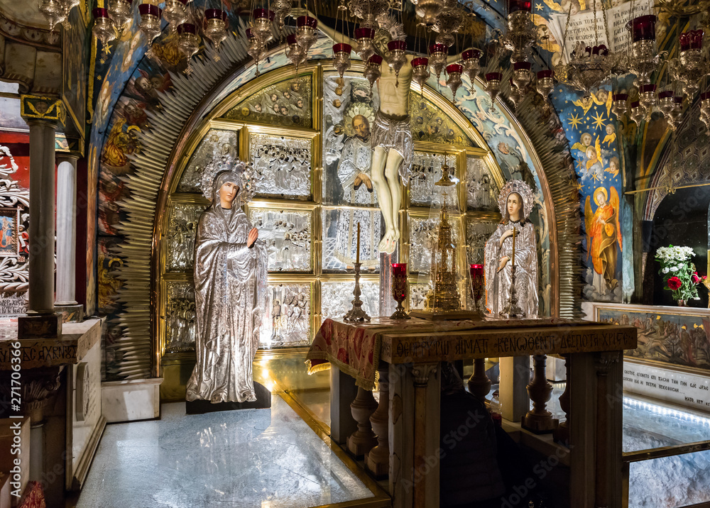 Fototapety, obrazy: Interior of Church of the Holy Sepulchre in the Old City of Jerusalem in Israel