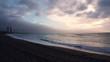 TIMELAPSE: Beautiful sunrise on barcelona beach