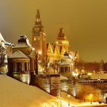 Szczecin In Winter Night