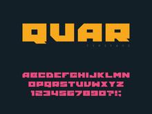 Square Block Font. Latin Alpha...