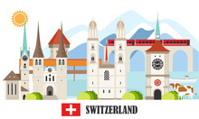 Switzerland Travel Landmarks Background