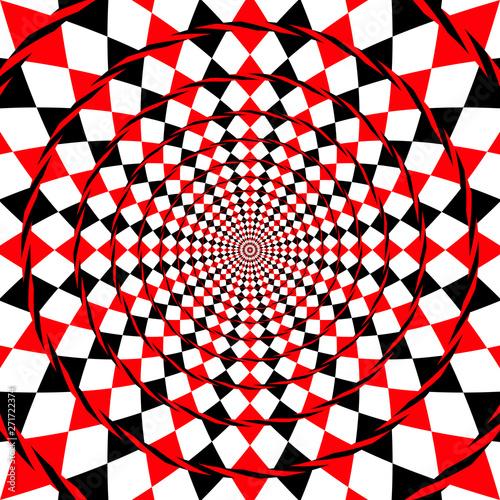 Fényképezés  optical illusion fake spiral background