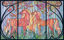 Stained Glass Horses Of Color ...