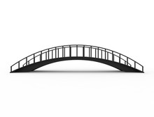 3D Rendering Of A Bridge Isolated On White Background
