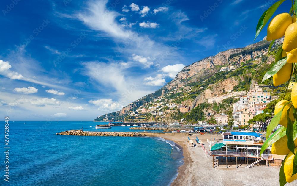 Fototapety, obrazy: Beautiful seaside town Amalfi in province of Salerno, Campania, Italy