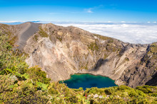 View To The Crater Of Irazu Volcano At Irazu Volcano National Park In Costa Rica