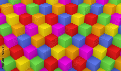 background cube design abstract geometric multicolor