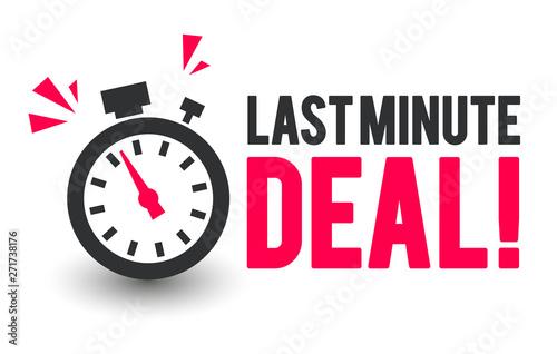 Fotografía  Vector Illustration Last Minute Deal Icon With Clock