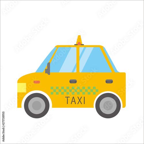 働く車のイラスト 自動車|タクシー|デフォルメ・コミック・アニメ調 ベクターデータ