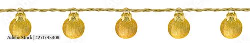 Poster Ecole de Danse guirlande de boules dorées de noël