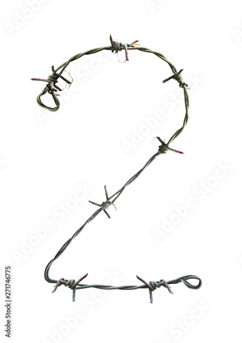Cuadros en Lienzo Number barbed wire