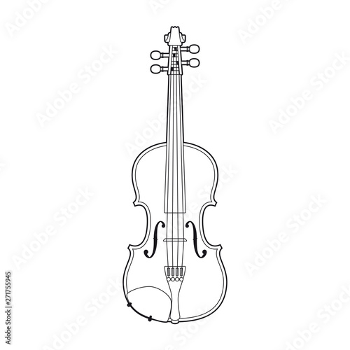 Violin vector illustration isolated on white background Fototapete