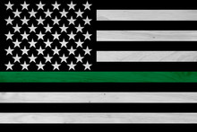 American Thin Green Line Flag