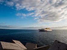 Fast Ferry Ship. Sunny Summer ...
