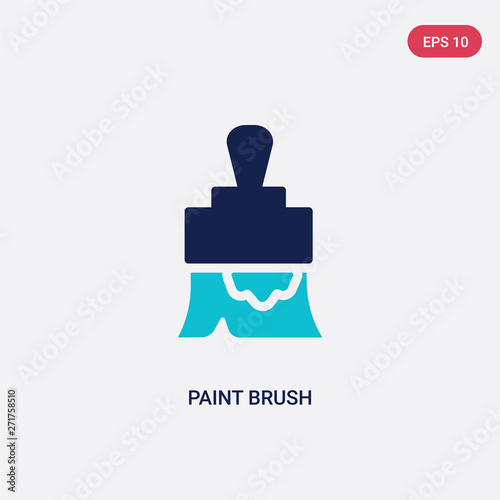 two color paint brush vector icon from construction tools