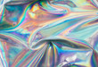 canvas print picture - Holographic iridescent abstract blurred surface. Holographic gradient.