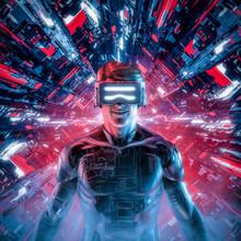 Happy Virtual Gamer Man / 3D I...