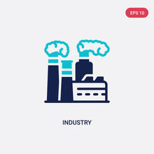 Two Color Industry Vector Icon...