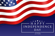 Happy Independence Day - Fourth of July background. Fourth of July design. USA Independence Day banner. Vector illustration.