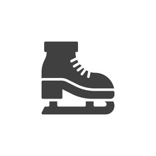 Ice Skates Vector Icon. Filled Flat Sign For Mobile Concept And Web Design. Ice Skating Shoe Glyph Icon. Symbol, Logo Illustration. Vector Graphics