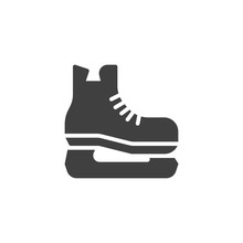 Ice Skating Shoe Vector Icon. ...