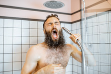 Bearded Man Feeling Shocked Wh...