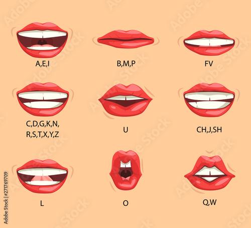 Fotografia Female lip sync
