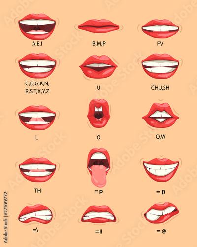 Female lip sync Canvas Print