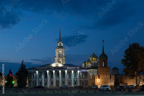 Fényképezés  Ancient kremlin in Tula at night, Russia