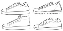 Shoes Sneaker Outline Drawing ...