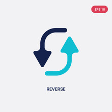 Two Color Reverse Vector Icon ...