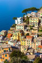Traditional Houses Of Riomaggiore, Cinque Terre, Liguria