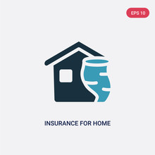 Two Color Insurance For Home Of Tornado Vector Icon From Insurance Concept. Isolated Blue Insurance For Home Of Tornado Vector Sign Symbol Can Be Use For Web, Mobile And Logo. Eps 10